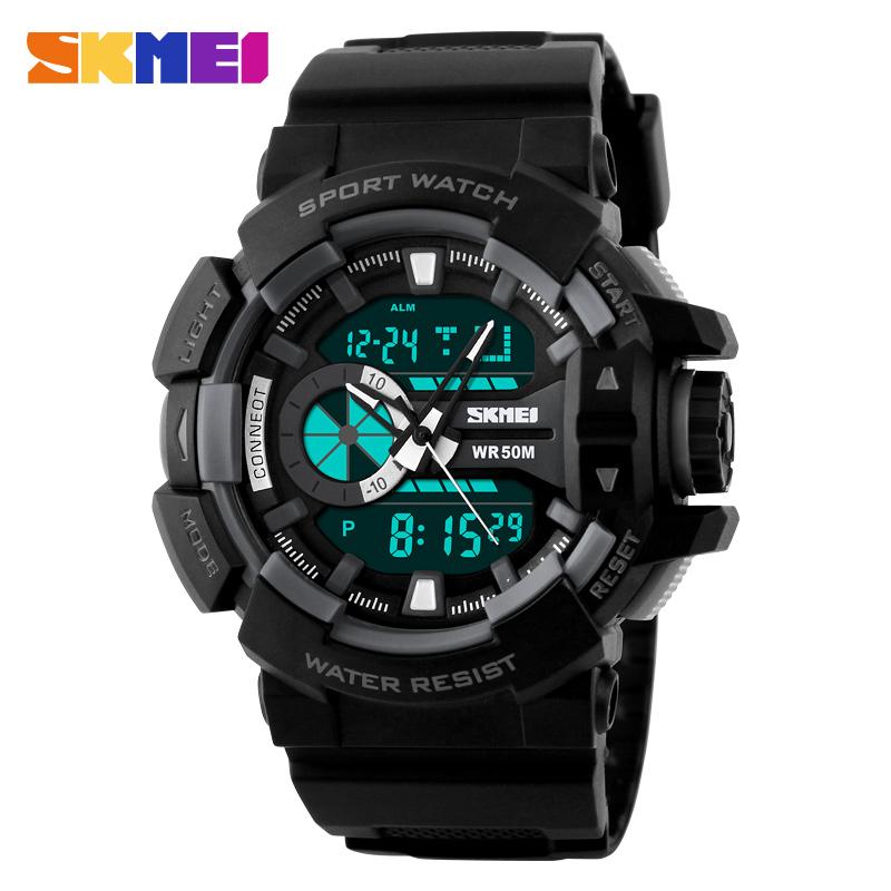relogio masculino Men Military Wristwatch Skmei Luxury Brand Fashion Digital Analog S Shock Watch Quartz Sports Watches(China (Mainland))