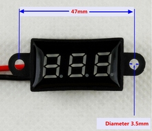 NEW Waterproof 0 56 Inch DC 3 50 30 0V Digital volt meter voltage led voltmeter