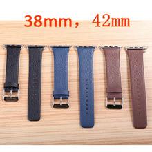 ( FWH-04 ) brown banda de reloj del cuero para apple reloj, venda de reloj con adaptadores, correa de reloj de cuero