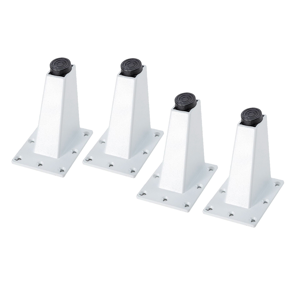 4 Pieces Metal Furniture Dampproof Sofa Leg Cupboard Cabinet Couch Plinth Feet Holder Set for Table Sofa Couch Bed Cabinet
