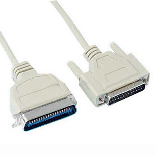 Original parallel printer cable old fashioned printer line db25 needle 1284 overstretches 1 5 meters 5