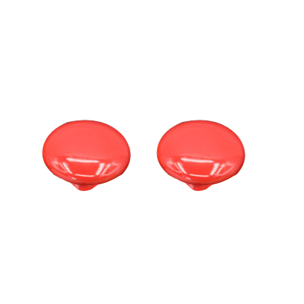 1 Pair 33mm Ceramic Door  Drawer Wardrobe Cupboard Handle Pull Knobs (Red) 88 E2shopping<br><br>Aliexpress