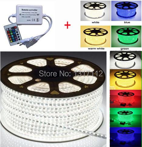 EU/US plug connect IR 24key controller /Dimmer + led strip 220V 230V 120V 110V 5050 band garden light RGB / warm/ cold white(China (Mainland))