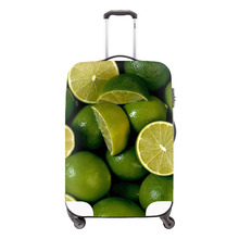 Clear Luggage Covers Fruit 3D print covers for suitcases Cute Orange suitcase rain cover spandex luggage protectors for Girls(China (Mainland))