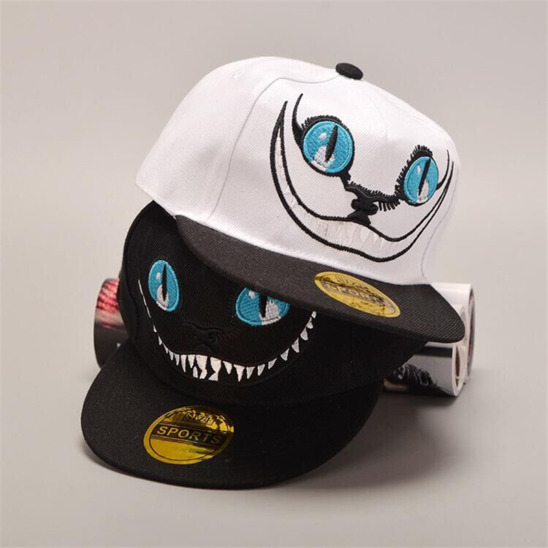 snapback 2016 high quality brand new Korean fashion star models Children's hat cartoon big mouth pattern hat hip hop cap C-80(China (Mainland))
