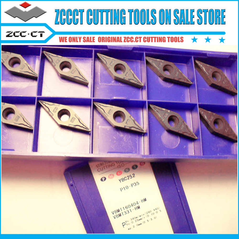 Free shipping 50 pieces VBMT 160404-HM YBG202 ZCC cutting tools for varies material metal cut(China (Mainland))