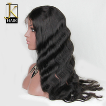 JK Brazilian Virgin Hair Body Wave Full Lace Human Hair Wigs For Black Women Lace Front Wigs Glueless Full Lace Wig(China (Mainland))