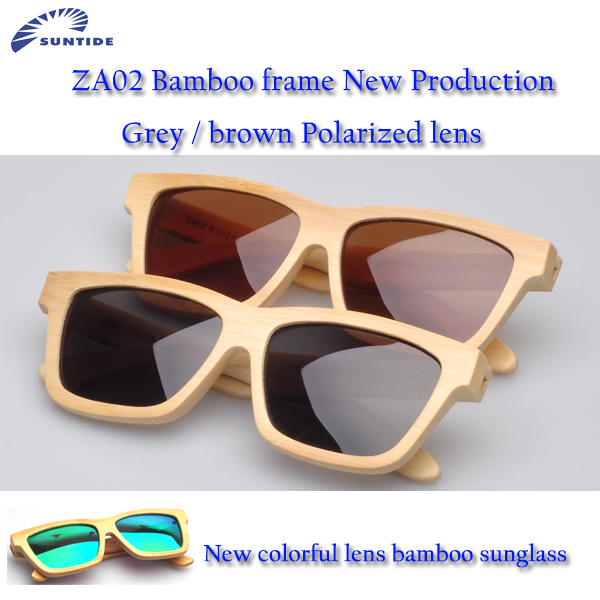 (ZA02) Fashion polarized sunglasses available for sale designer Bamboo wooden  sunglasses(China (Mainland))