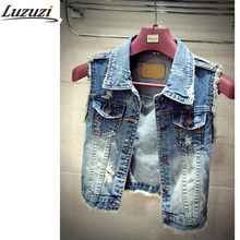 Plus Size Denim Vest For Women Waistcoat Womens Autumn Sleeveless Summer Woman Vest Jacket  YY331(China (Mainland))