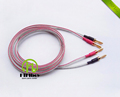 HIFI Speaker Cable with Japan Origin Canare Speaker Wire American Budweiser Copper Gold plated Bananas Y
