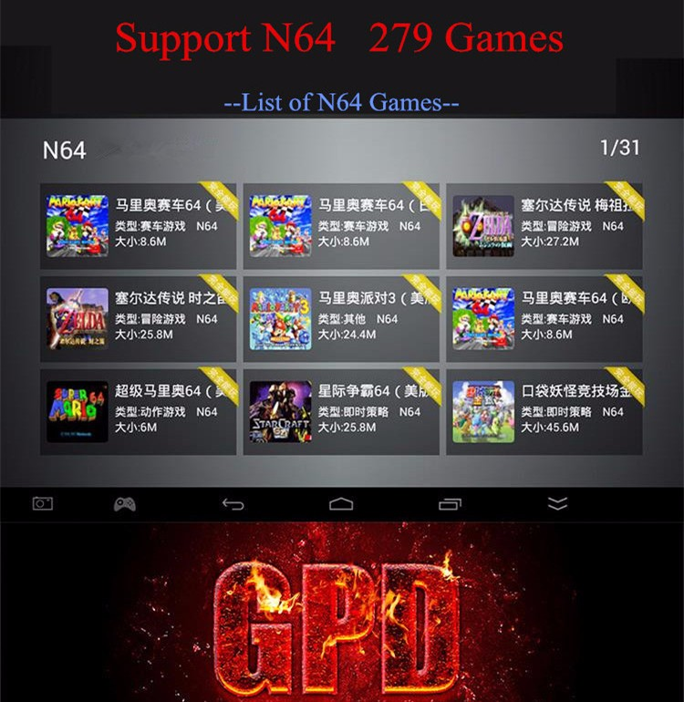 Original GPD Q9 7″ Quad Core 2GB/16GB Player tablet  RK3288 gamepad Android 4.4 2G RAM 16GB 1024*600 IPS Handheld Game Players