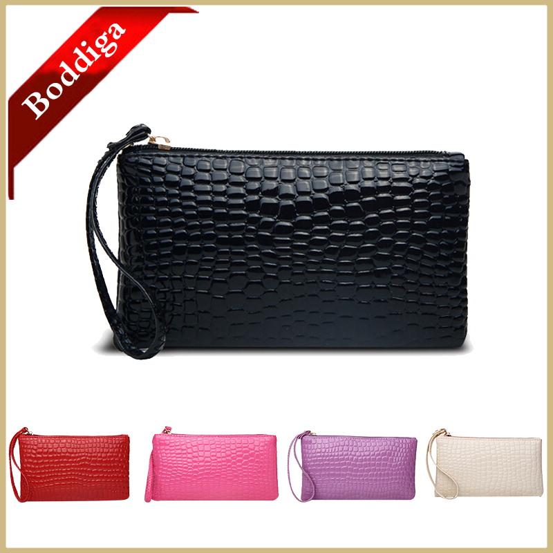 Stone Pattern Shiny Wristlets Fashion clutches Women Clutch Bag 2015 Casual Clutch female Handbags Purse Evening Black Rose(China (Mainland))