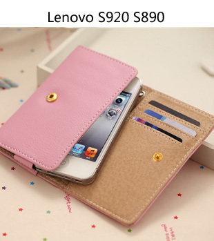 PU Leather Smart Pouch/mobile phone bag wallet case for Lenovo VIBE Z S920 K900 K910 S960 VIBE X K860 A830 S880 A590