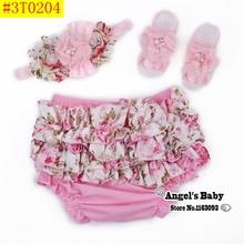 Ruffle Lace Baby Bloomers Diaper Cover and Headband Set,Newborn Tutu Ruffled Panties Baby Girls,Leopard Infant Baby Short,#A0005(China (Mainland))