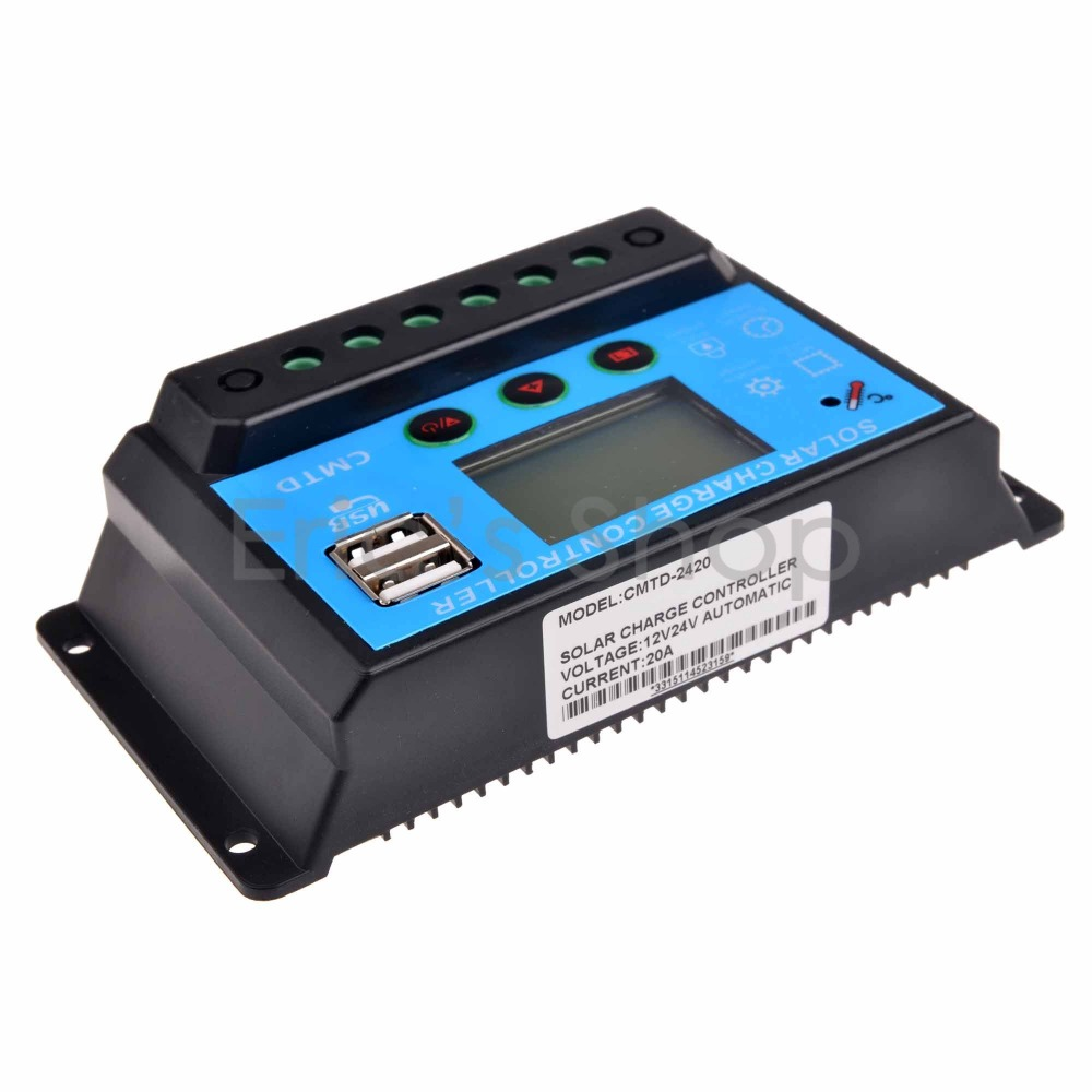 10A Solar Charge Controller PWM 12V/24VDC AUTO Battery Regulator With LCD Display Solar Panel Charger USB 5V Output(China (Mainland))