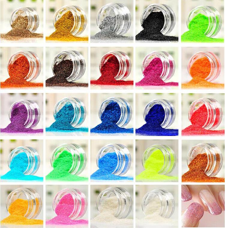 012#24 Color together Glitter Nail Art Tool Kit Acrylic Powder Dust gem Polish Nail Tools For Girl Women(China (Mainland))