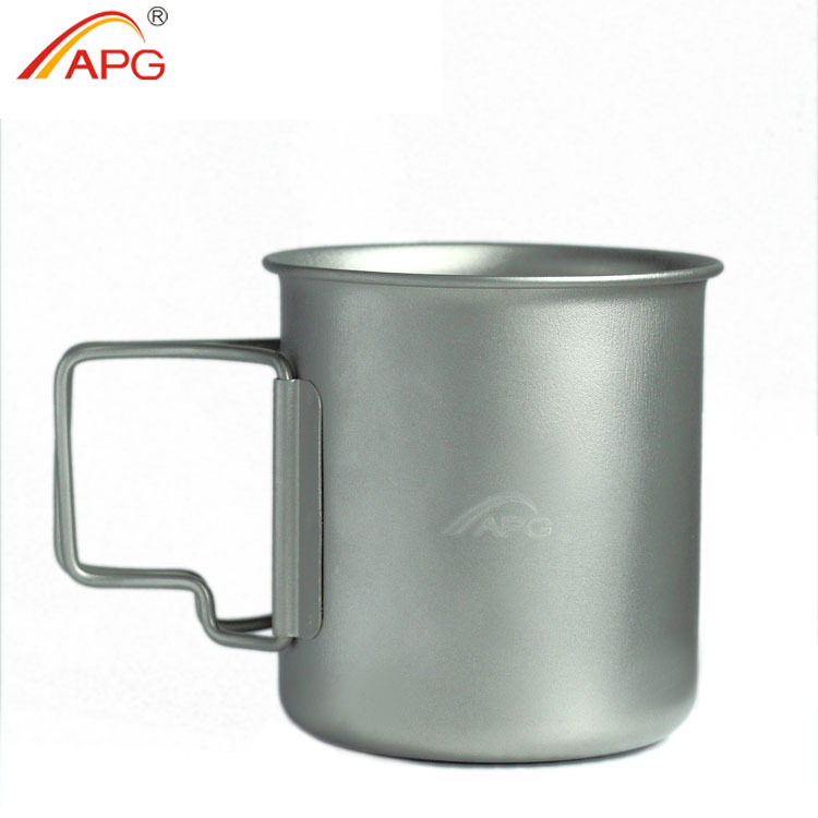 Outdoor cup for tea or coffee 375ml portable camping mug new style titanium cup<br><br>Aliexpress