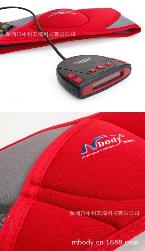 free shipping electric muscle stimulation burning fat belt export korea factory direct sale mbody EMS massage belt(China (Mainland))