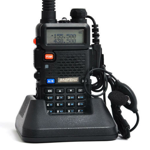 Bao Feng BaoFeng 5R 5R uv5R Walkie Talkie 5W 128CH 400/470 Walkie Talkie UV-5R baofeng 5r lengthened 128 ch walkie talkie w 3800mah li ion battery black