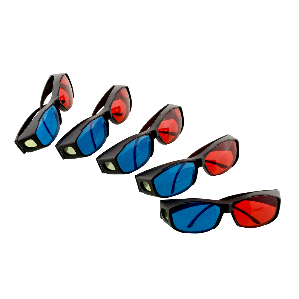 5PCS New Maravilloso Virtual Reality 5pcs red blue 3D glasses frame for Dimensional Movie DVD juegos Theatre(China (Mainland))