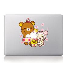 Cute Cartoon Bear Rilakkuma Family Make Cakes Vinyl Decal Laptop Stickers For Macbook Pro / Air 11 13 15 inch Laptop Skin Cover(China (Mainland))