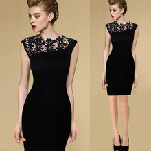 Buy Casual Dress Summer Black Sexy Women Stretch Evening Party Lace Slim Bodycon Pencil Dresses Vestidos Crochet Elegant Dress J2 ) for $4.54 in AliExpress store