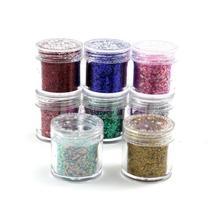 Professional New Women Nail Art Body Glitter Shimmer Dust Powder Nail Decoration For uv gel 8Pcs/Lot(China (Mainland))
