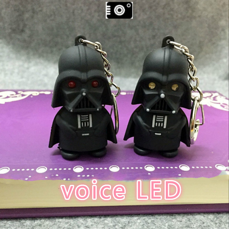 Star Wars led keychain with sound,Darth Vader the soldier keyring force Awakens White pawns flashlight figure keychains Boy girl<br><br>Aliexpress