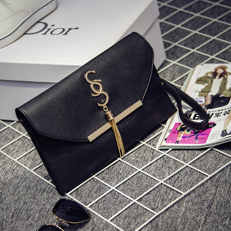 2015 Genuine Leather Women Party Clutch Evening Bags Fashion Ladies Crossbody Messenger chain Bag brief Day clutch envelope bag