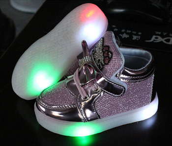 2015 fashion Lovely LED lighted children casual shoes Elegant boys girls shoes hot sales baby boots cute noble kids sneakers