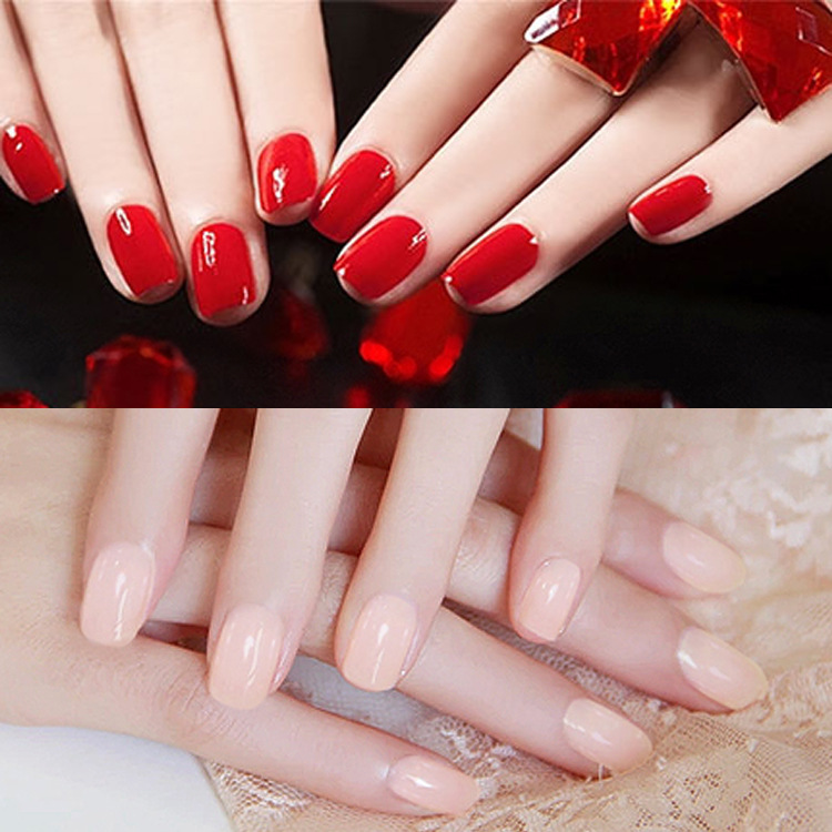 22Pcs/set Fashion Long Full False Nails19 kinds color Fake Nails Party use glue sticker bride's pure colour nail tip - the best service,the last price,Direct Manufacturer store