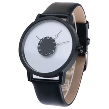 PAIDU Casual Brand Watch Men Women Simple Fashion Quartz Watch Classical Black and White Leather Band