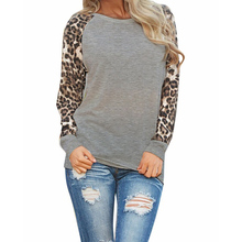 Women Spring Autumn Long Sleeve T Shirt Leopard Loose Casual Tees Tops Plus Size T-Shirt Ladies T Shirts(China (Mainland))