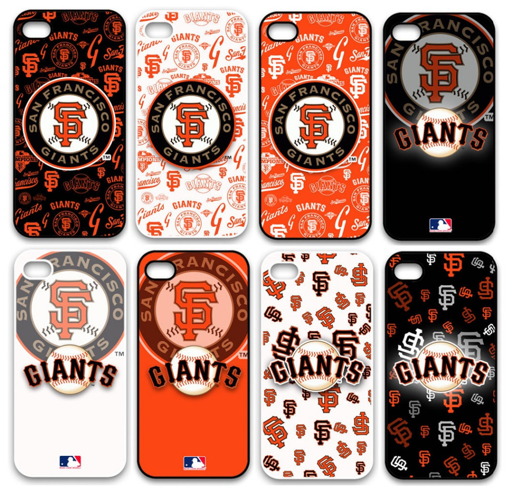MLB Baseball San Francisco Giants Plastic Hard Back Cell Phone Case Cover Cases for Apple iPhone 4 And 4S(China (Mainland))