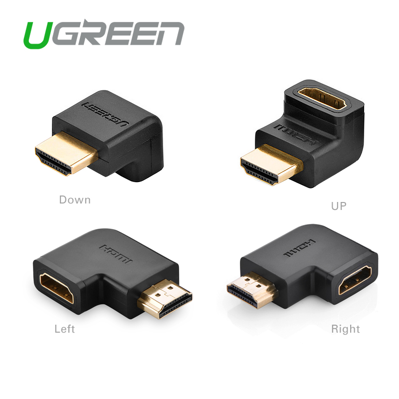 Portable Mini HDMI Connector Converter 90/270 Degree Right/Left 1.4 Version for HDTV 1080P Male to Female HDMI Adapters Extender(China (Mainland))