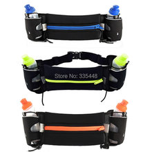 High Quality Walking Running Waist Belt Bag With 2*150ml Water Bottle Holder Stander For Smartphone key 6 Plus 5S S3 S4(China (Mainland))