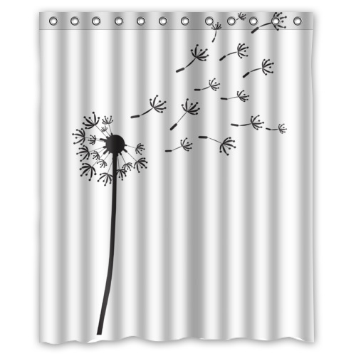 image fabric shower curtains with dandelion download