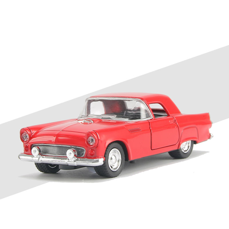 DR.B Children Gift 1:32 Scale Metal Classic Alloy Pull Car With Light And Music Retro Boy Mini Toy Cad Ford Model Four Color 4A(China (Mainland))
