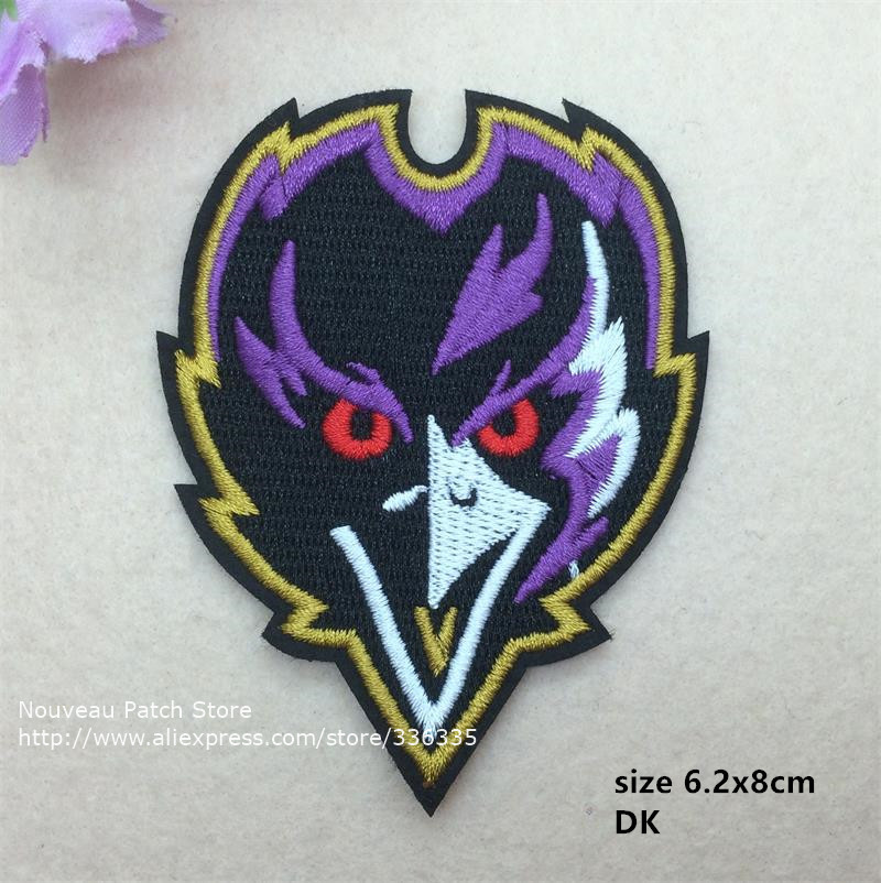 10 pcs Sports Team Logo Full embroidered Iron On Patches Quality garment Hat Appliques accessory DK free shipping(China (Mainland))