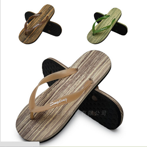 New 2015 Fashion Contracted Men Shoes Copy Wood Grain Men Beach Flip-Flop Sandals #2039<br><br>Aliexpress