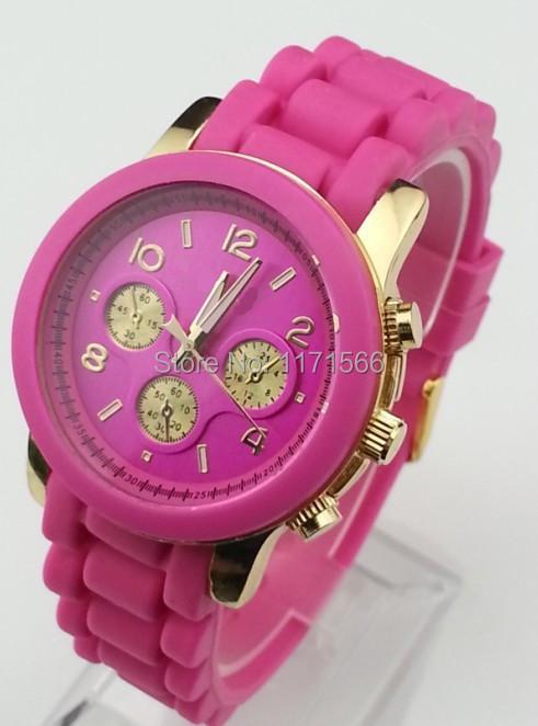 Гаджет  Relogios masculinos Fashion watches Kors clock luxury brand GENEVA silicone wristwatches men sports watch women dress watches None Часы