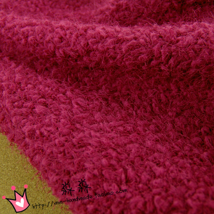 FREE SHIPPING The noble red cloth clothing fireworks hair deep pink winter wool wool coat fabric bag hip skirt(China (Mainland))