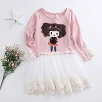 Girl Dress Kids Clothes Autumn Style Fashion Cartoon Lolita Girls Dresses Cute Baby Girl Clothing Children