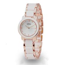 Hot Sales! Kimio Retro Student / Woman Watch and a half Ceramic Watch Quartz Bracelet Watch the Trend of Fashion Ladies Watch(China (Mainland))