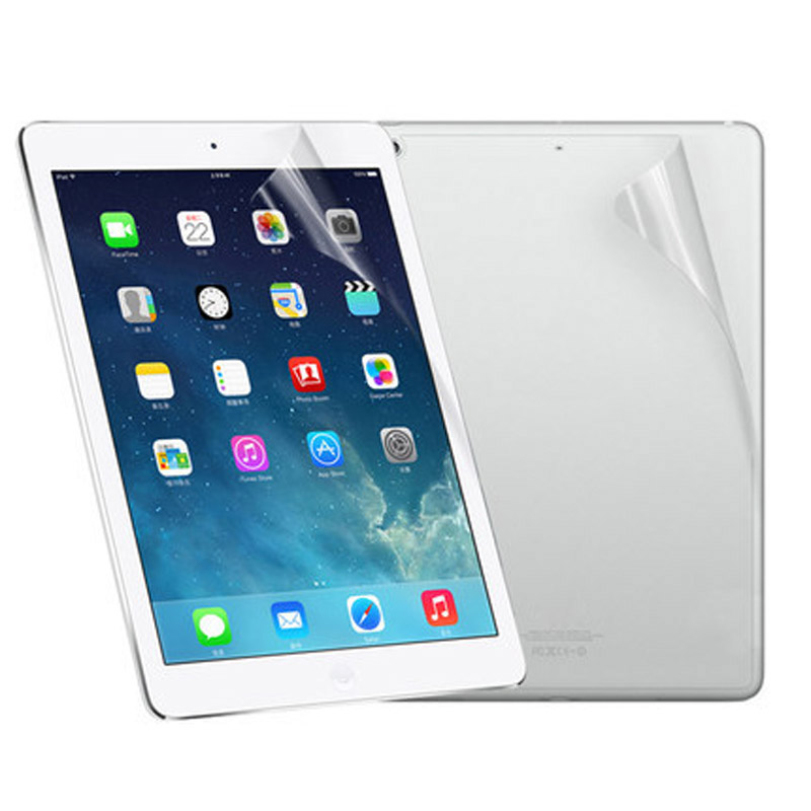 Solid Fashion Premium High Quality Screen Protector Front And Back Clear Film LCD Screen Protection For Ipad 5 6 Air 1 2#20(China (Mainland))