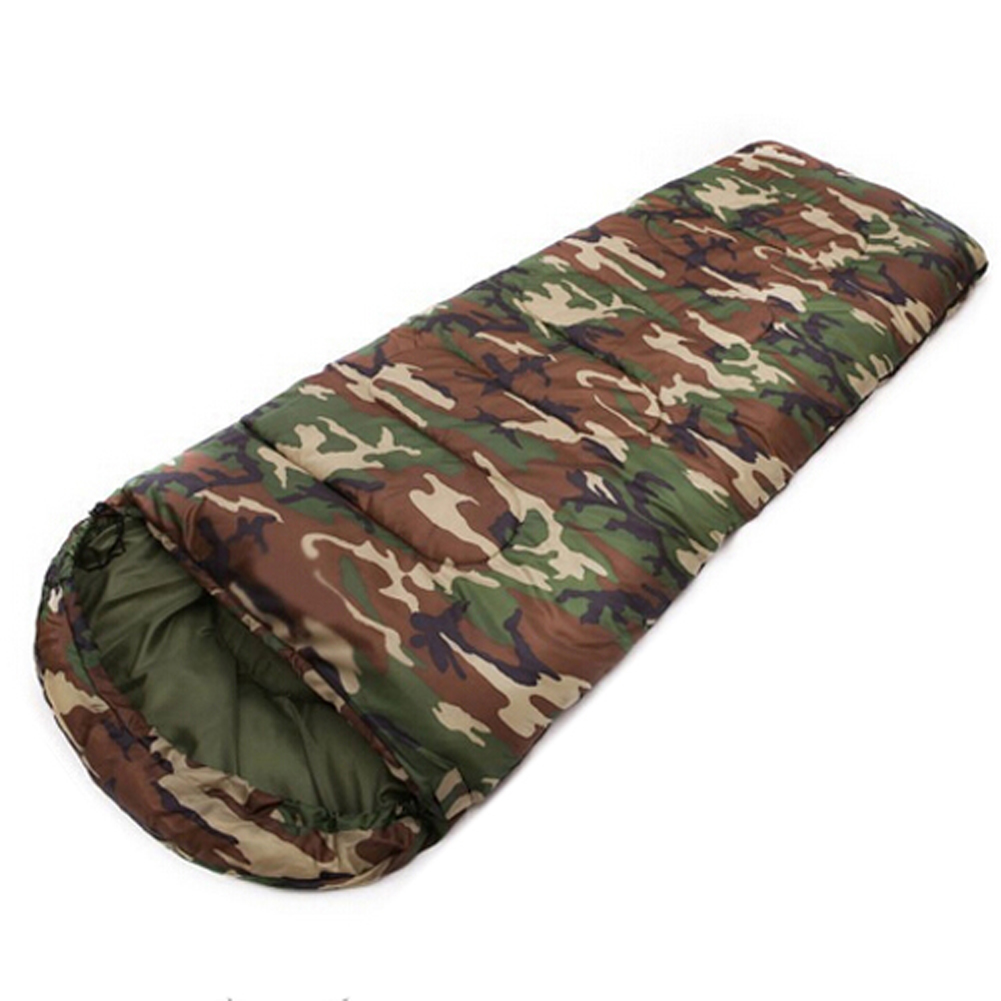 Hot Cotton Camping sleeping bag,15~5degree, envelope style, camouflage