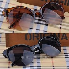 Fashion Cat Eye Sunglasses Women Eyewear Semi Rimless Sun glasses Super Round Circle Cat Eye Sunglasses