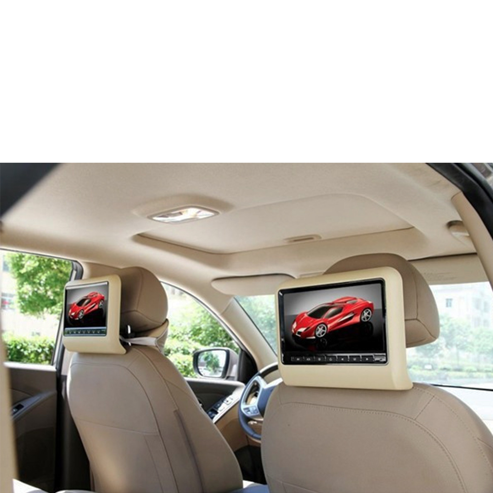 9 inch Car Headrest DVD Player Digital Panel Portable Automobile Headrest With Stanchion Mounts/Game/USB/SD/IR/FM 800*480Monitor(China (Mainland))