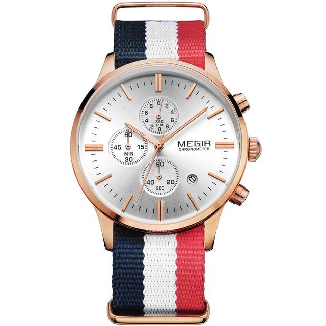 Zegarek męski MEGIR klasyczny casualowy styl różne kolory