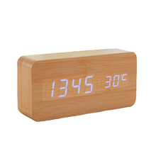 Buy Wooden Digital LED Alarm Clock LED Display Electronic Desktop Digital Table Clocks Wooden Digital Alarm Clock 1pcs for $17.20 in AliExpress store